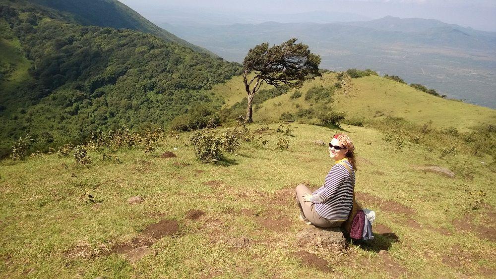 Ngonské hory a obecně africká příroda Haně právem učarovaly.